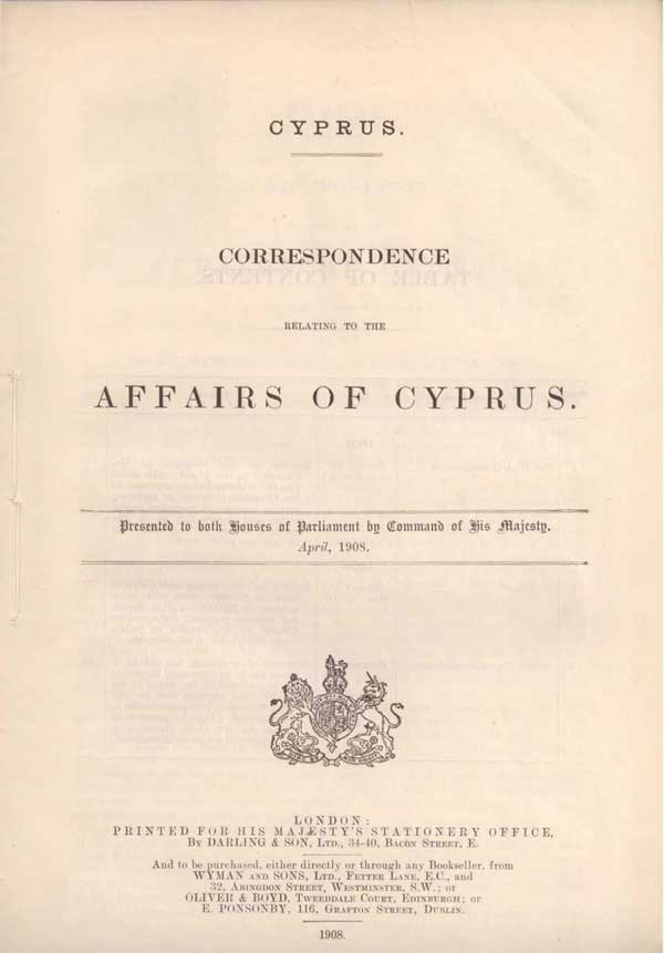 Copy of Churchill's report: documenting his visit to Cyprus