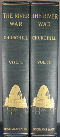 The River War: the spines of this 2 Volume Set in perfect condition