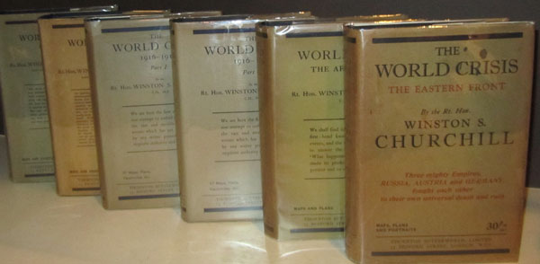 6 Volume Set: The World Crisis by Winston Churchill Signed in 5 Volumes by author