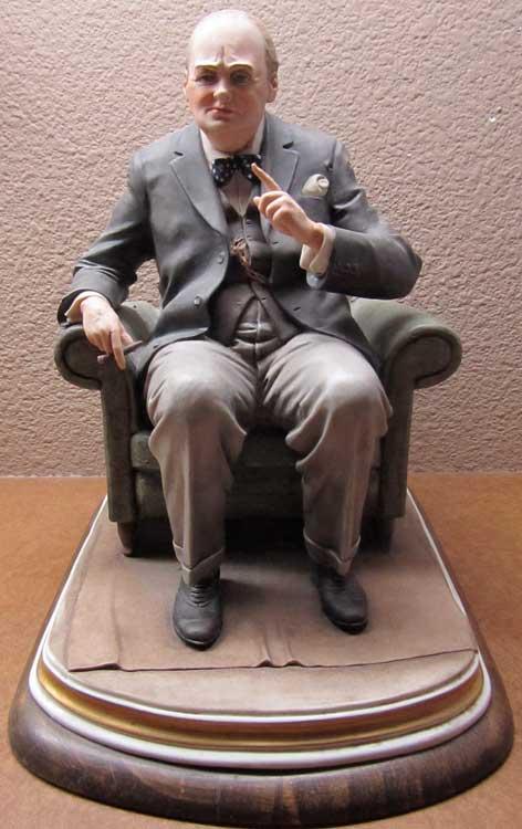 Winston Churchill Centenary Figurine by Bruno Merli, Capo di Monte