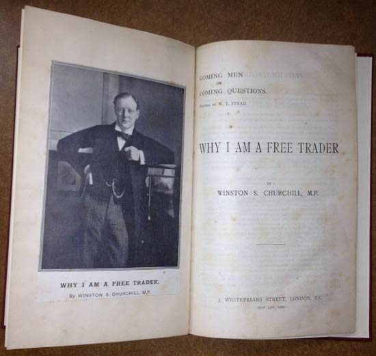 Speech pamphlet dated 1905, by Winston Churchill