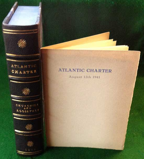 Atlantic Charter pamphlet with custom-made clam shell book-like box