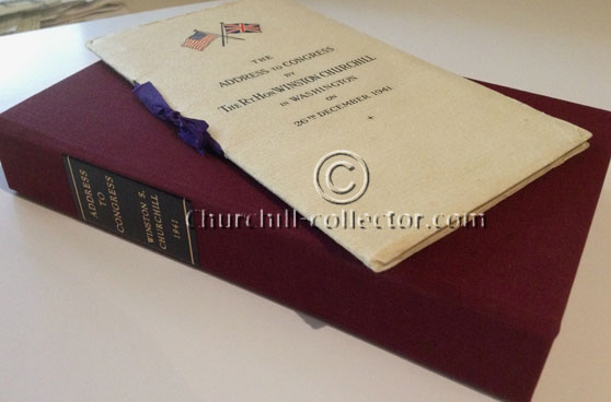 Pamphlet with maroon cloth covered clamshell box with leather title on the spine