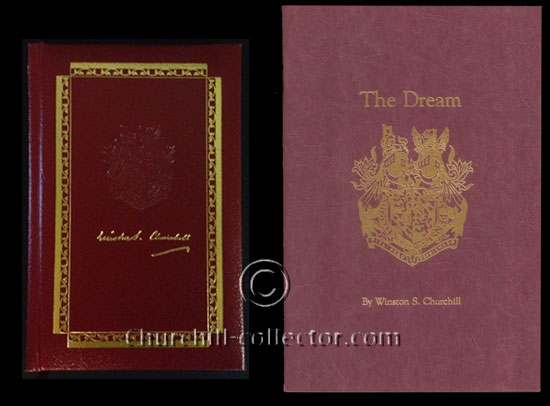 2 versions of the book The Dream by Winston Churchill
