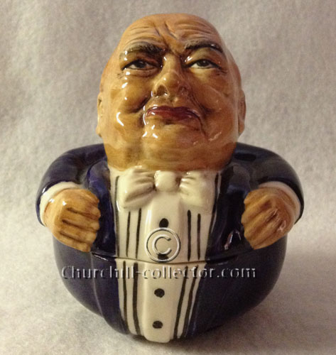 Churchill face pot by Kevin Francis: a prototype