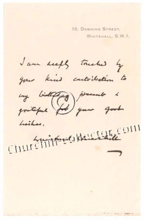 Facsimile letter #2 (no date) from Winston Churchill