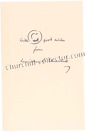 Facsimile letter (no date) from Winston Churchill