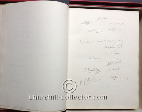 Signatures include Winston Churchill