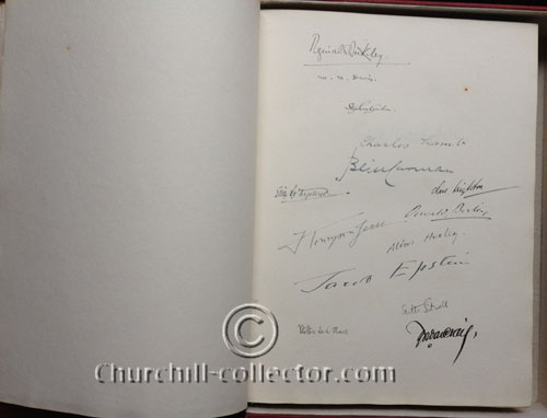 Signed by more than 80 Authors, Artists, Prime Ministers The French President (George Clemenceau) and H.R.H. The Prince of Wales (the Future King of England)