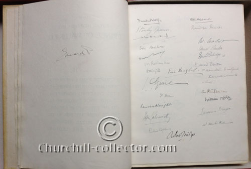 Signatures include The Prince of Wales (the future King Edward VIII)