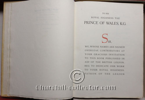 The Legion Book, 1929: One of 100 Copies For Distribution By The Prince of Wales