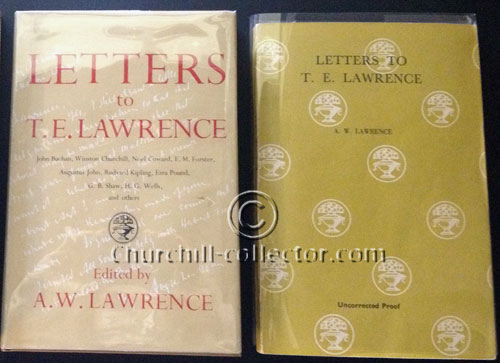 2 Versions of the book, Letters to T.E.Lawrence shown here