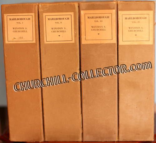 Marlbrough, 4 Volumes by Winston Churchill, shown here in original slipcases