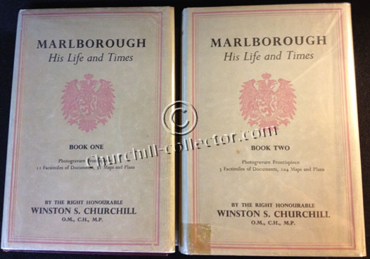 2 volume set, Marlborough - His life and Times by Winston Churchill