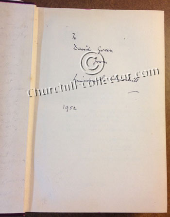 Churchill's signature shown here in Volume 1 of Marlborough, His Life and Times