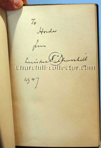 Secret Session Speeches - Signed by Winston Churchill