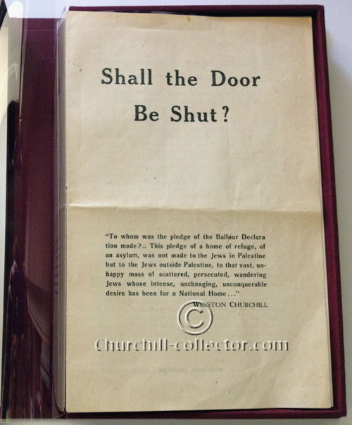 Rare of Churchill's speech: Shall the Door Be Shut