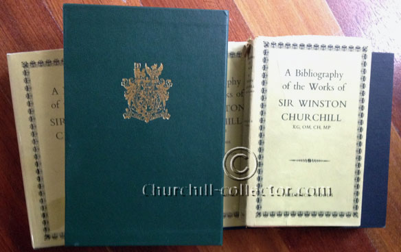 Five books, all Churchill's Bibliography by Frederick Woods