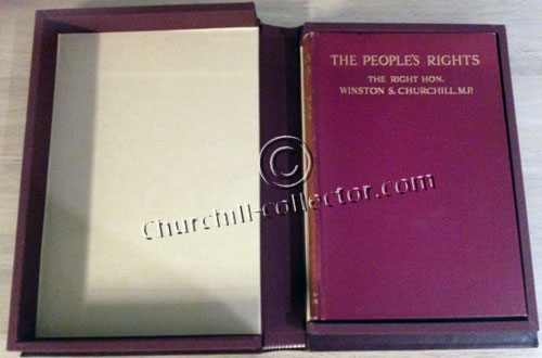 Book by Winston Churchill, The People's Rights in protective book-like box