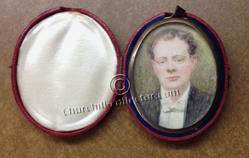 Early miniature of Churchill dated approximately 1910