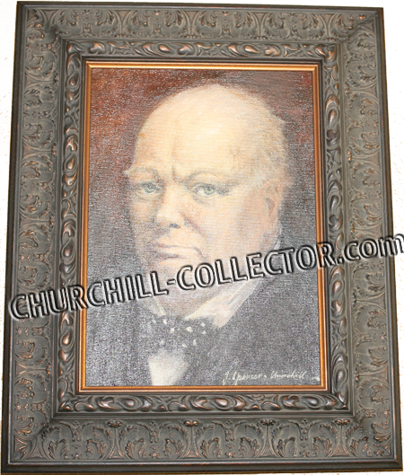 Original oil Painting of Sir Winston Churchill by his Nephew, John Spencer Churchill