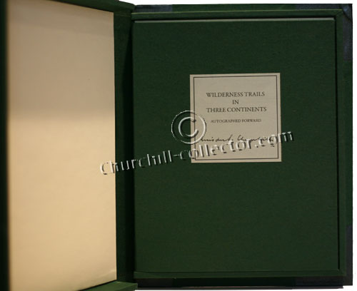 This book, in clam-shell box, features original typed forward by Winston Churchill