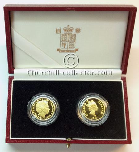 2 gold coins showing Queen Elizabeth's head