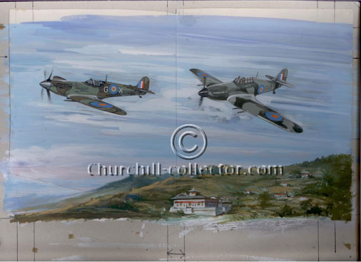 Original artwork used for the Churchill stamps : Buhtan