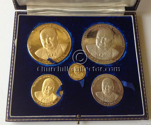 Churchill Medals in presentation case: Memorial Set