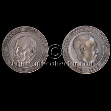 FOR SALE: Churchill / Smuts Commemorative Silver Medal – $150.00