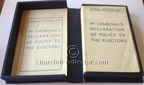 Mr. CHURCHILL'S DECLARATION OF POLICY TO ELECTORS