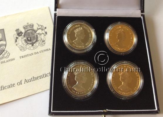 FALKLAND ISLANDSandTRISTAN-DA-CUNHA CHURCHILL COMMEMORATIVE COINS