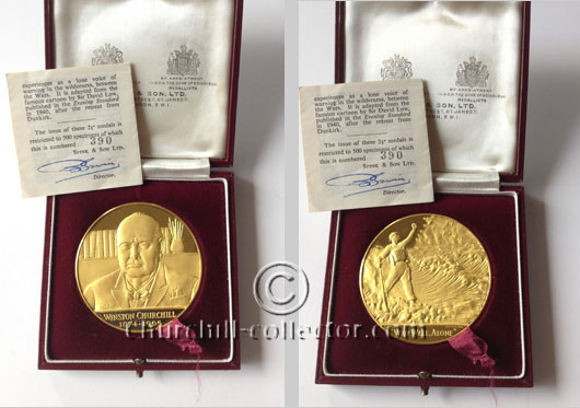 Churchill Memorial Medal - both sides shown here
