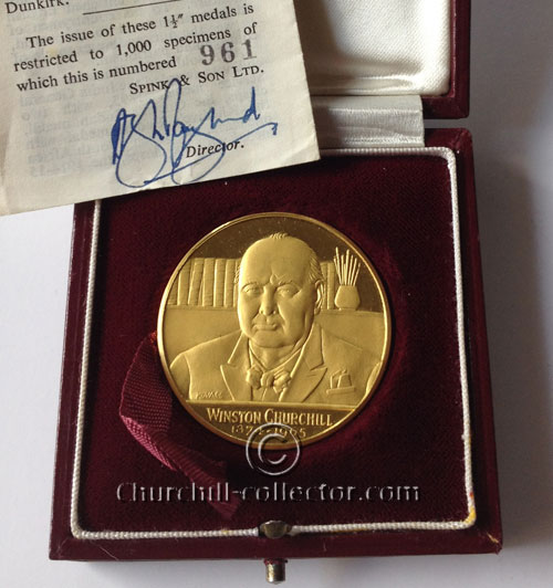 Small Churchill Memorial Medal 1965: number 961 of 1000