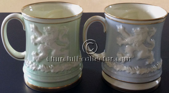 Churchill Paragon Tankards with lion on back side