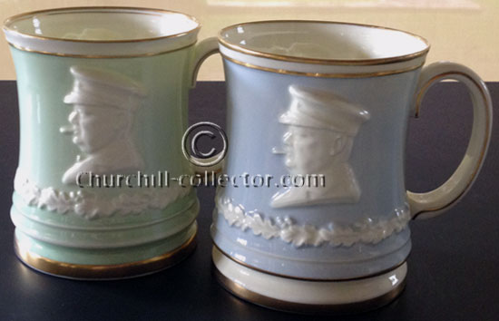 Churchill Paragon Tankards in pale blue & pale green