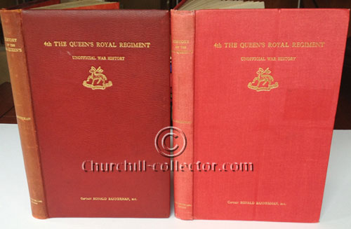 2 copies of the book, 4th The Queens Royal Regiment - An Unofficial History
