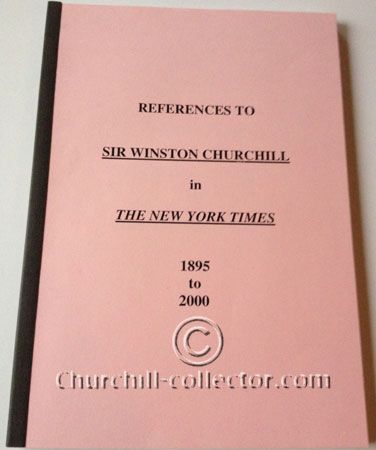 References to Sir Winston Churchill in The New York Times