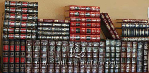 47 volumes of books by or about Winston Churchill: all published by Easton Press