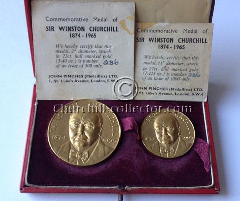 2 Winston Churchill Memorial Medals, 1965