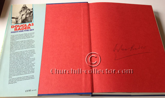 Douglas Bader's book with signature: Fight For The Sky