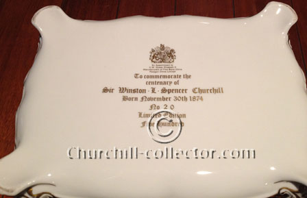 Base of Churchill paragon cigar box showing it is item # 20