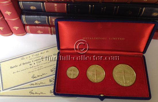 Battle of Britain Commemorative Medals: Set of 3