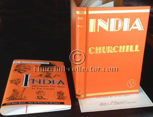 INDIA Speeches by Winston Churchill: First American edition