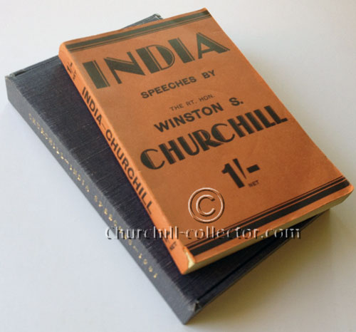 India Speeches byWinston Churchill 1st Edition 1st Impression