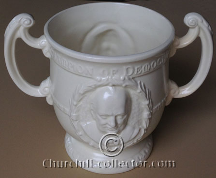 Churchill on 2-handled loving cup by Burgess & Leigh