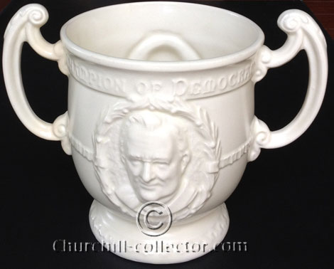 Roosevelt on 2-handled loving cup by Burgess & Leigh