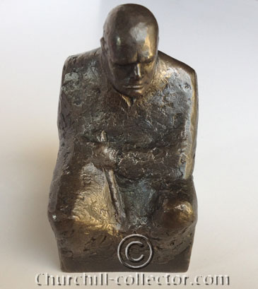 superb hand wrought silver statuette of the Great Statesman, Sir Winston Churchill
