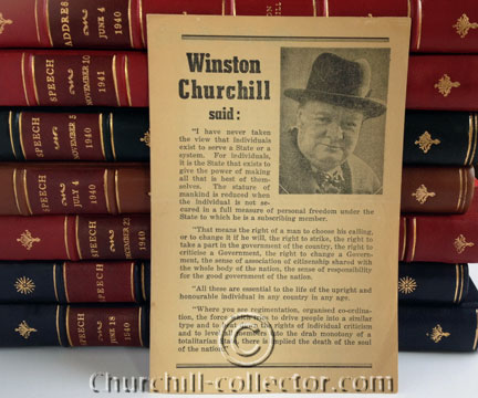Winston Churchill Said: pamphlet from Australia