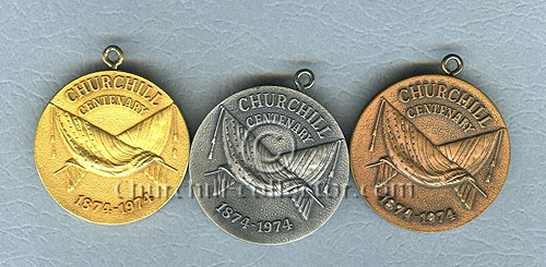 Obverse of the 3 Churchill Centenary Pendants